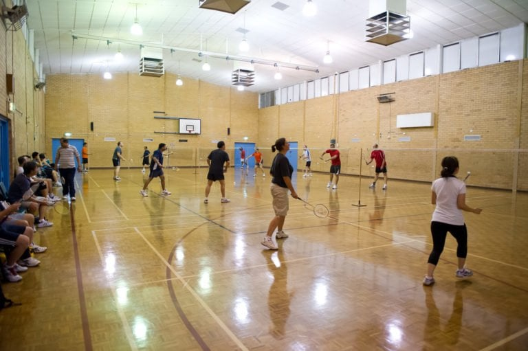 Social badminton session at Jim Satchell Recreation Centre Dianella