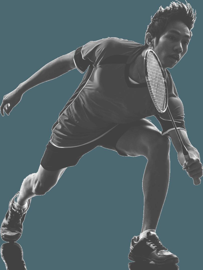 social badminton player