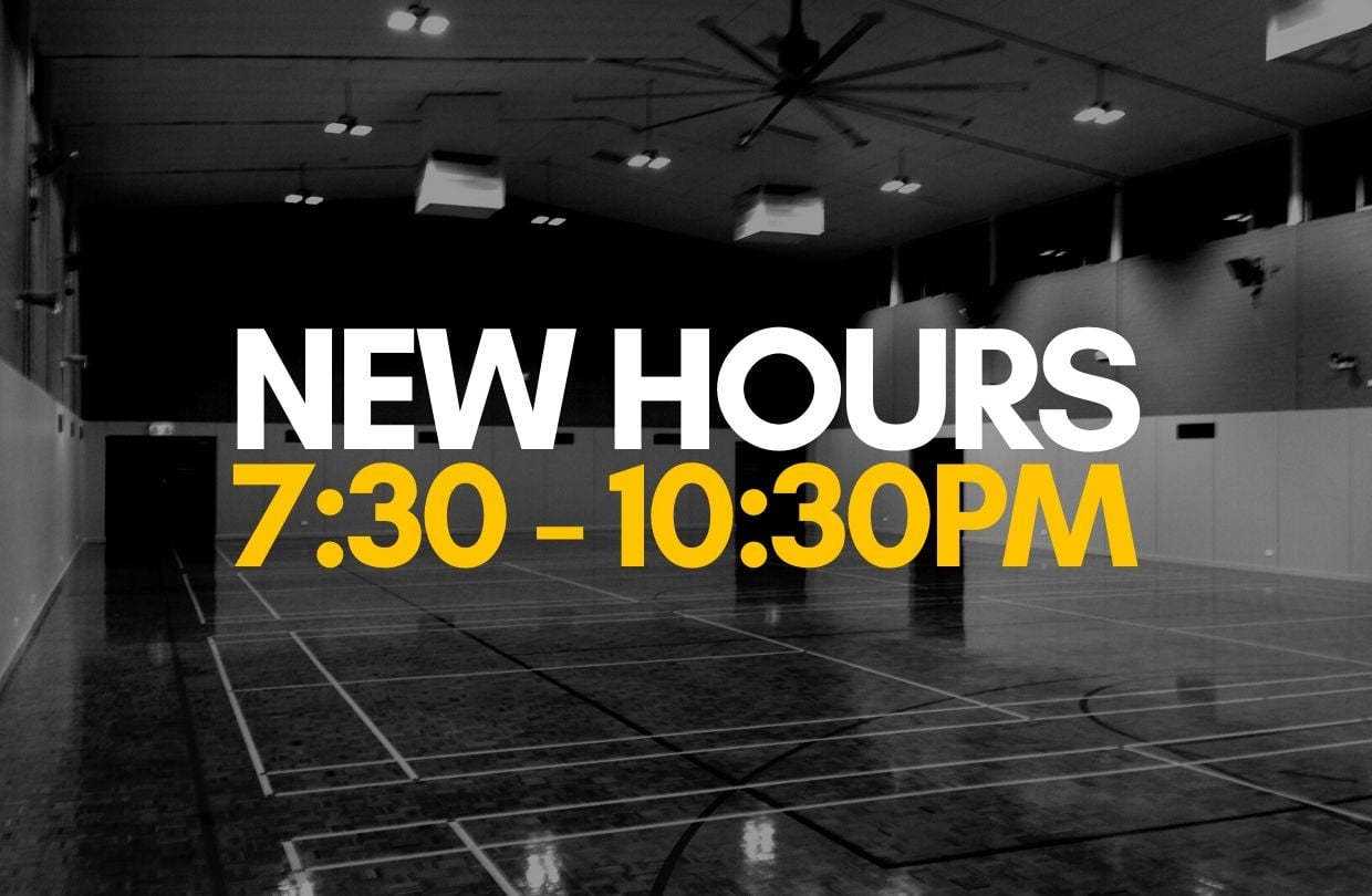 New Hours - 7:30pm to 10:30pm