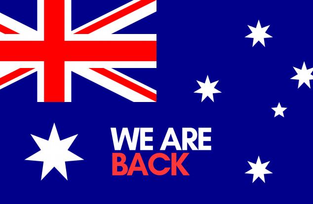 We Are Back Australia Day Public Holiday