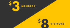 Queen's Birthday Offer - Members $3, Visitors $8
