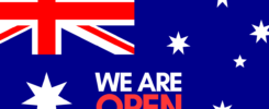 We are open Australia Day
