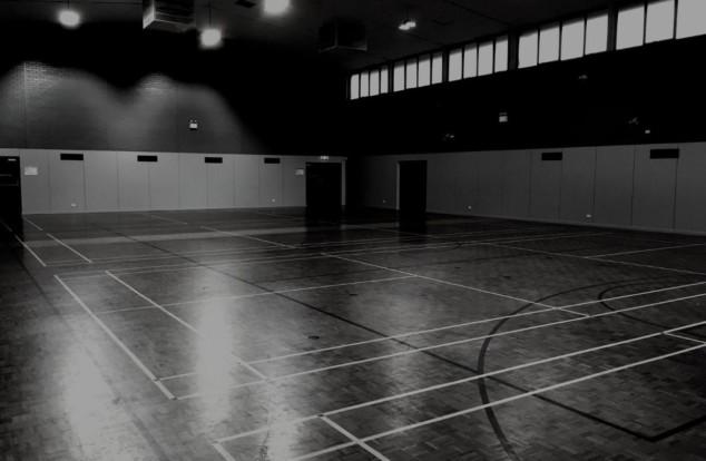 Empty badminton court